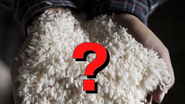 Reconocer el arroz real y el arroz de plastico